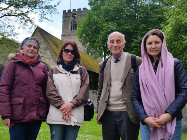 Our parishioners at the annual pilgrimage to the Saints of Barking