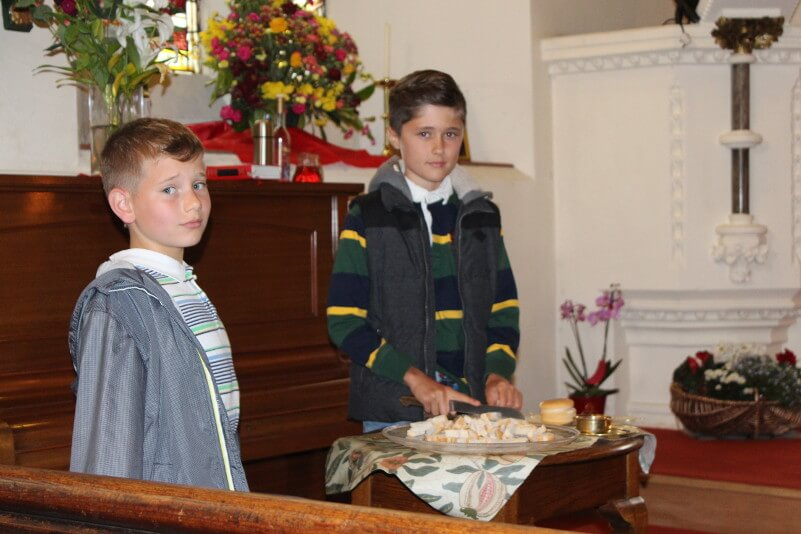 Our children assist at the liturgy